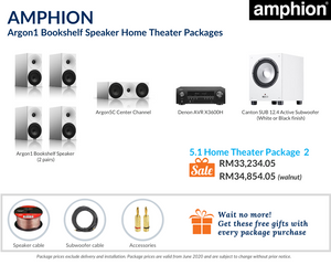 Amphion Argon1 Bookshelf Speaker 5.1 Home Theater Package