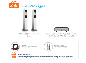 Hi-Fi Package D (Peachtree Integrated Amplifier)