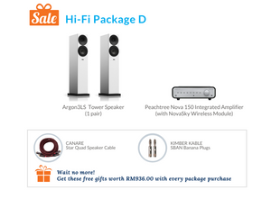 Hi-Fi Package D (Peachtree Audio Integrated Amplifier)