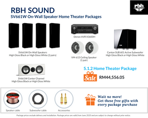 RBH Sound Signature SV661W On-Wall Speaker 5.1.2 Home Theater Package