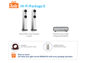 Hi-Fi Package E (Peachtree Integrated Amplifier)