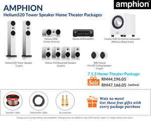 Amphion Helium520 Tower Speaker 7.1.2 Home Theater Package