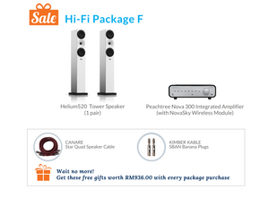 Hi-Fi Package F (Peachtree Integrated Amplifier)