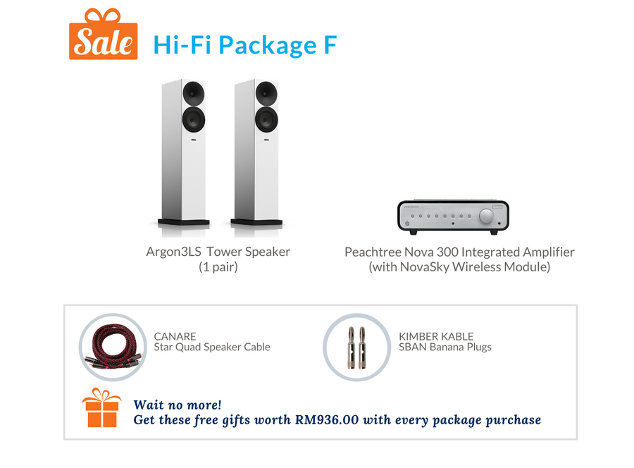 Hi-Fi Package F (Peachtree Audio Integrated Amplifier)