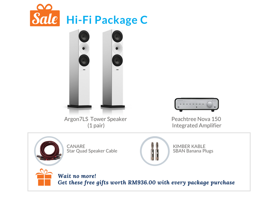 Hi-Fi Package C (Peachtree Audio Integrated Amplifier)