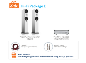 Hi-Fi Package E (Peachtree Audio Integrated Amplifier)
