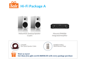 Amphion Helium410 Desktop Speaker Hi-Fi Pack A