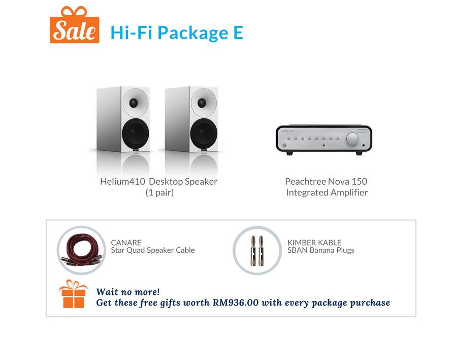 Amphion Helium410 Desktop Speaker Hi-Fi Pack E