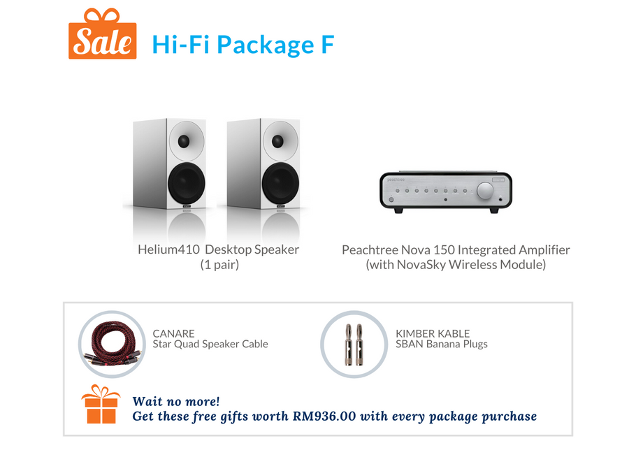 Amphion Helium410 Desktop Speaker Hi-Fi Pack F