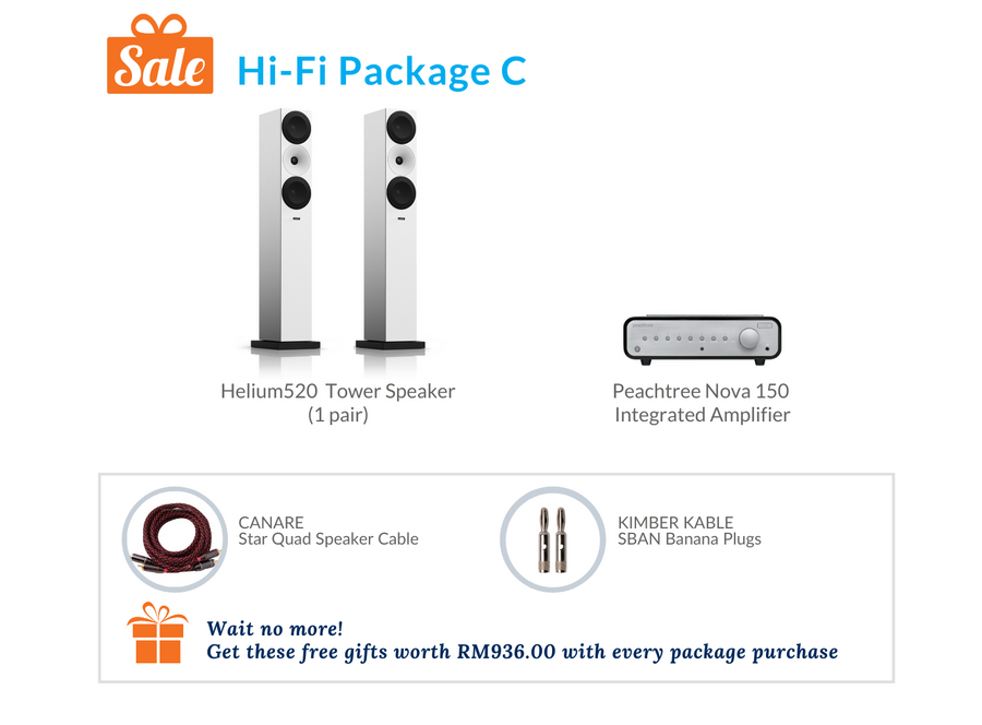 Hi-Fi Package C (Peachtree Integrated Amplifier)