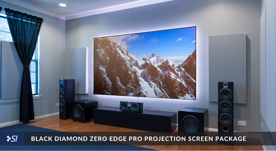 Black Diamond Zero Edge Pro Projection Screen