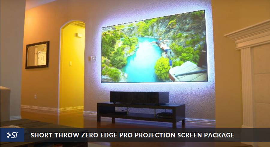Short Throw Zero Edge Pro Projection Screen