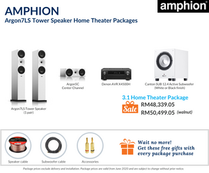 Amphion Argon7LS Tower Speaker 3.1 Home Theater Package