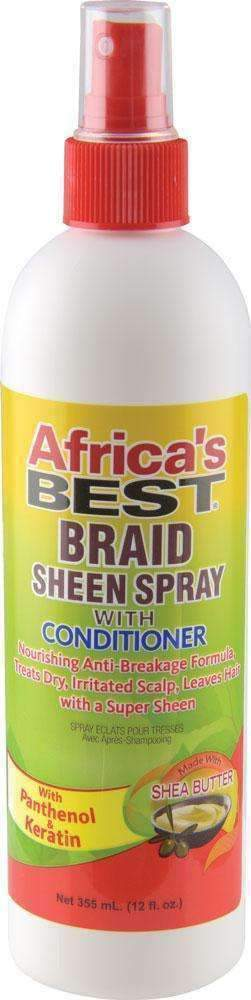 Africa's Best Braid Sheen Spray w/ Conditioner - Deluxe Beauty Supply