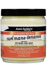 "Aunt Jackie's Flaxseed Recipes ""Curl Mane-tenance"" Defining Curl Whip - Deluxe Beauty Supply"