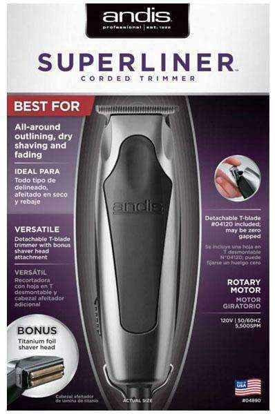 Andis SuperLiner Trimmer w/Bonus Shaver Head