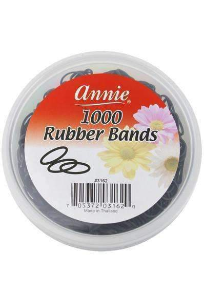 Annie Black Rubber Bands 1000pcs #3162