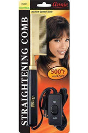 Annie Straightening Comb Curved Teeth #5531 - Deluxe Beauty Supply
