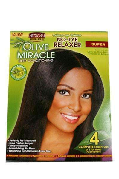 African Pride Olive Miracle No Lye Relaxer 4 Touch-Up Kit - Deluxe Beauty Supply