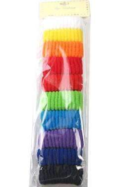 Assorted Rainbow Hair Scrunchies 10pcs - Deluxe Beauty Supply
