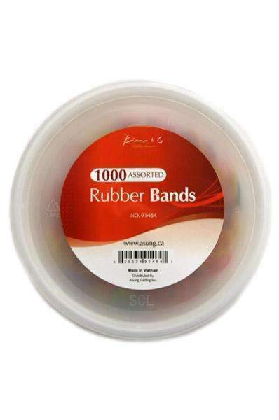 1000 Rubber Bands Assorted