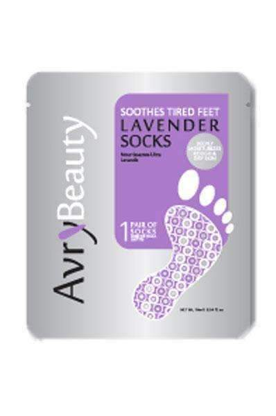 Avry Beauty Nourishing Pedicure Socks - Lavender - Deluxe Beauty Supply