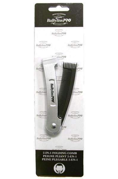 BaByliss Pro Beard 2-in-1 Folding Comb - Deluxe Beauty Supply