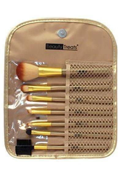 Beauty Treats 7 Piece Brush Set - Metallic Gold #146 - Deluxe Beauty Supply