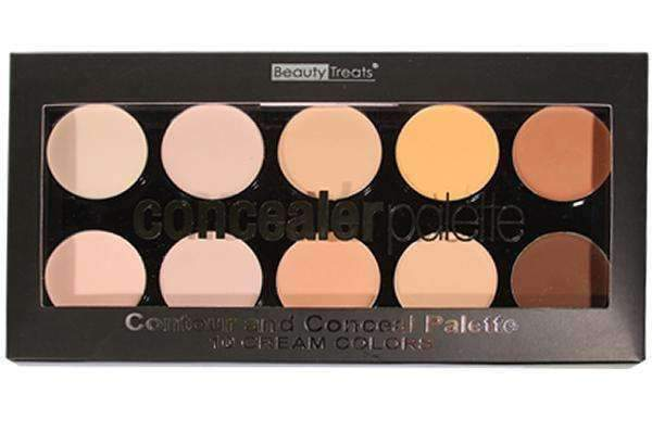 Beauty Treats 10 Colors Contour & Conceal Palette #357 - Deluxe Beauty Supply