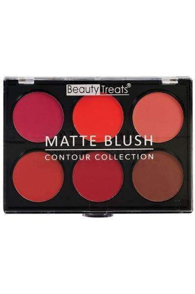 Beauty Treats Contour Collection 6 Color Matte Blush - Dark - Deluxe Beauty Supply