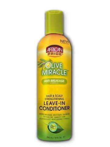 African Pride Olive Miracle Anti Breakage Leave in Conditioner 12oz - Deluxe Beauty Supply