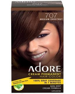 Adore Cream Permanent Hair Color - Medium Chestnut 707 | Deluxe Beauty Supply