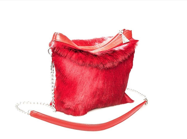 Nina Designer Cross Body bag - Springbok Leather