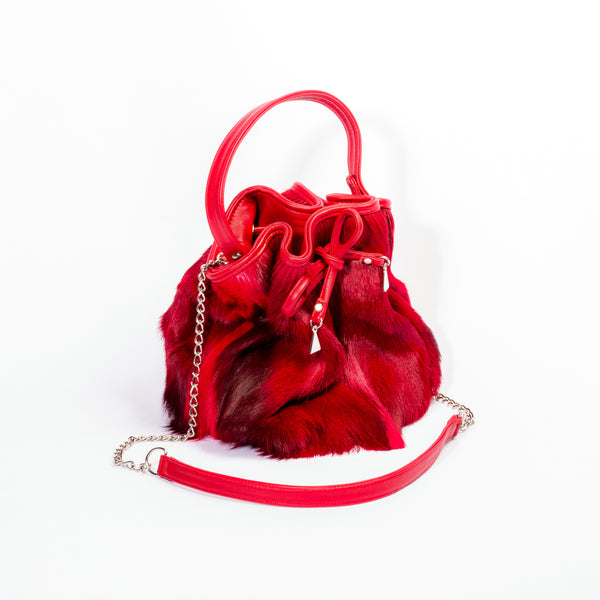 Margot Designer Bucket Bag - Springbok Leather