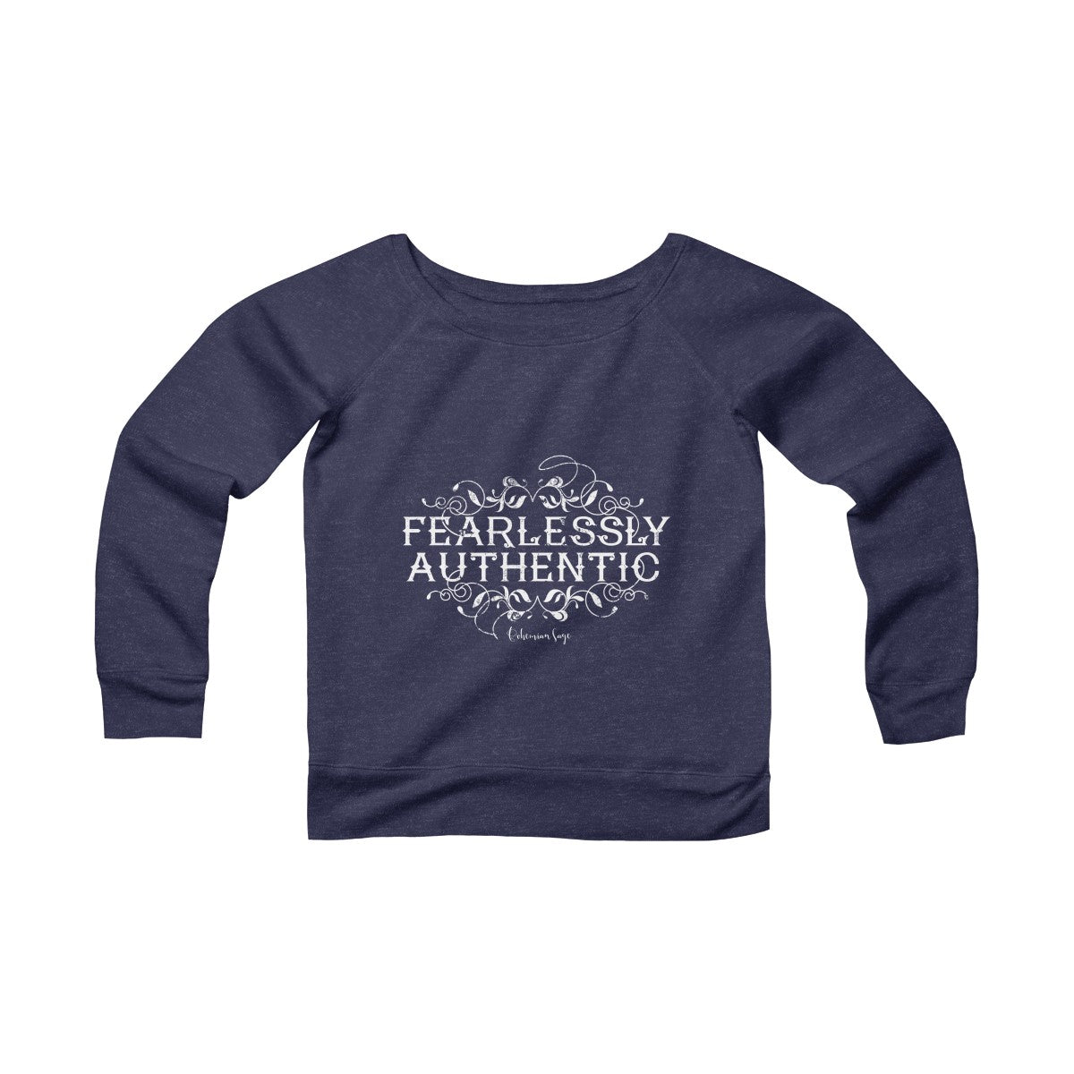 Women's Fleece Off the Shoulder Yoga Sweatshirt | Fearlessly Authentic