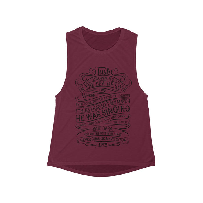 Women's Flowy Scoop Muscle Tank ~ Tribute to Fleetwood Mac Sara
