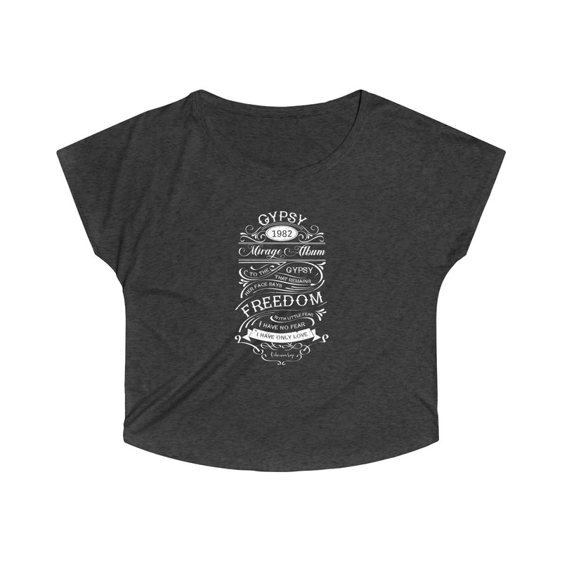 "Women's Tri-Blend Off the Shoulder Dolman | Tribute to Fleetwood Mac ""Gypsy"""