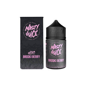 NASTY JUICE,BERRY,BROSKI BERRY,E-LIQUID,70VG,30PG,HUFF N PUFF VAPOURS