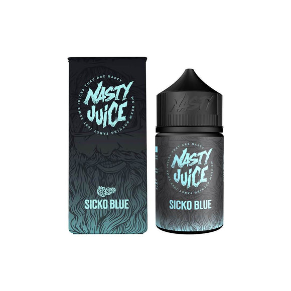NASTY JUICE,BERRY,SICKO BLUE,E-LIQUID,70VG,30PG,HUFF N PUFF VAPOURS