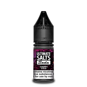 ULTIMATE SALTS,SODA,CHERRY COLA,NIC SALT,50VG,50PG,HUFF N PUFF VAPOURS