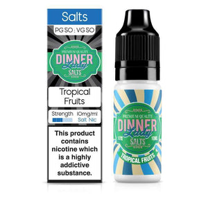 DINNER LADY,FRUITS NIC SALT,TROPICAL FRUITS,NIC SALT,50VG,50PG,HUFF N PUFF VAPOURS