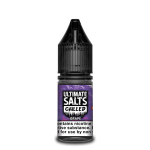 ULTIMATE SALTS,CHILLED,GRAPE,NIC SALT,50VG,50PG,HUFF N PUFF VAPOURS