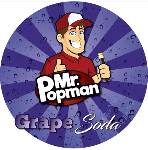 Grape Soda By Mr Popman (80ml) & Nicotine Boosters