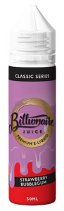 BILLIONAIRE JUICE,CLASSIC SERIES,STRAWBERRY BUBBLEGUM,E-LIQUID,70VG,30PG,HUFF N PUFF VAPOURS