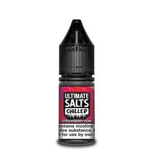 ULTIMATE SALTS,CHILLED,STRAWBERRY POM,NIC SALT,50VG,50PG,HUFF N PUFF VAPOURS