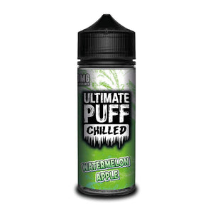 ULTIMATE PUFF,CHILLED,WATERMELON APPLE,E-LIQUID,70VG,30PG,HUFF N PUFF VAPOURS
