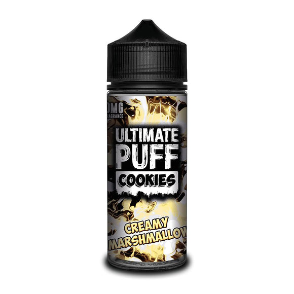 ULTIMATE PUFF,COOKIES,CREAMY MARSHMALLOW,E-LIQUID,70VG,30PG,HUFF N PUFF VAPOURS
