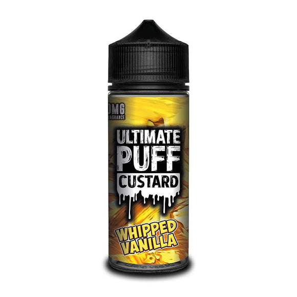 ULTIMATE PUFF,CUSTARD,WHIPPED VANILLA,E-LIQUID,70VG,30PG,HUFF N PUFF VAPOURS