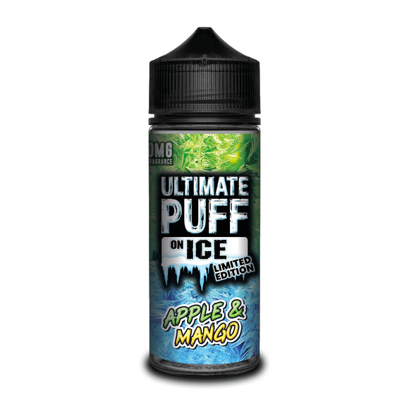 ULTIMATE PUFF,ON ICE,APPLE & MANGO,E-LIQUID,70VG,30PG,HUFF N PUFF VAPOURS