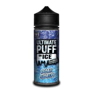 ULTIMATE PUFF,ON ICE,BLUE SLUSH,E-LIQUID,70VG,30PG,HUFF N PUFF VAPOURS